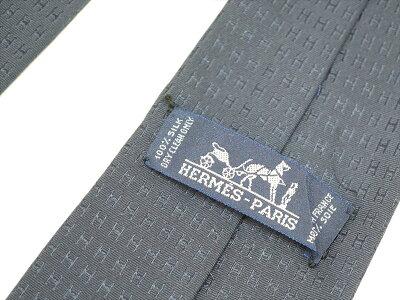 HERMES【エルメス】ネクタイイルカ柄シルク100%絹メンズビジネス小物【中古】USED-4質屋かんてい局北名古屋店n19-1256