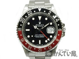 ROLEX 【ロレックス】 16710 GMTマスター2 R番 シングルバックル トリチウム 赤黒ベゼル 腕時計 USED-9 【中古】 質屋かんてい局細畑店 h18-6639