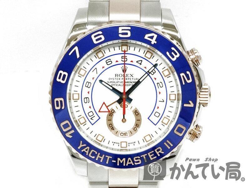 ROLEX 【ロレックス】 116681 ヨットマスター2 ピンクゴールド コンビ メンズ 腕時計 USED-9 【中古】 質屋かんてい局細畑店 h19-568