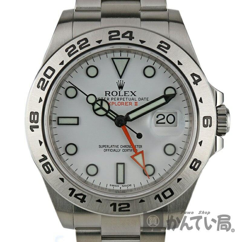 ROLEX【ロレックス】216570 エクスプローラー2 ランダム番 WT(ホワイト) SS(ステンレス) メンズ 自動巻き オートマ 腕時計【中古】かんてい局小牧店 c18-7027