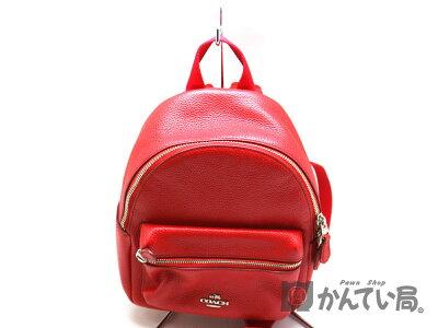 COACH【コーチ】F38263バッグパックリュックサックレッド系レザー鞄【中古】USED-6a19-10342質屋かんてい局茜部店