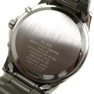 SEIKO【ソーラー】ALBAアルバ7B52-OATO電波ソーラーステンレススチール日付表示メンズブランドファッション腕時計USED-8【中古】A2007145質屋かんてい局茜部店