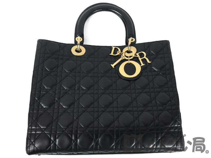 Christian Dior クリスチャン・ディオール レディディオール レディース ハンドバッグ ショルダーバッグ ブラック ゴールド金具【中古】F68-4478 USED-A かんてい局本社