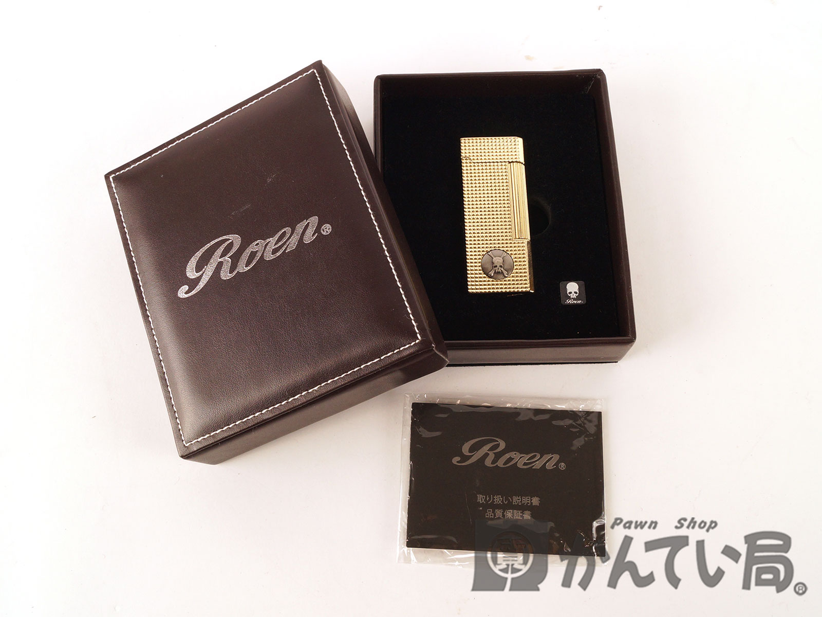 【ROEN】ロエン ライター ジッポ ゴールド メンズアイテム 【中古】F67-2461 USED-B かんてい局本社