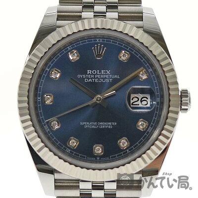 【保証書付き】ロレックス126334Gデイトジャスト4110Pダイヤランダム番2020年購入ステンレス×ホワイトゴールド腕時計メンズ自動巻ROLEX【中古】かんてい局小牧店USED-9c20-3283