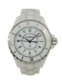 a28de62a24d7 CHANEL シャネル J12 ジェイトゥエルブ H0968 ホワイトセラミック レディース クォーツ 腕時計【中古】かんてい