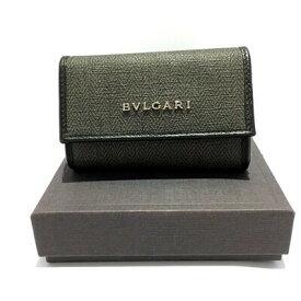 【中古】【限界価格に挑戦】BVLGARI 【ブルガリ】【USED A】6連キーケース ブラック メンズ 質屋かんてい局名護店