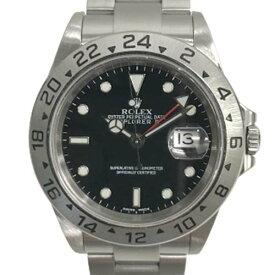 【美品/ギャラ〇】 ロレックス エクスプローラーII 16570 F番 黒 ブラック GMT デイト 日付 自動巻き 腕時計 SS ステンレススチール メンズ 【中古】