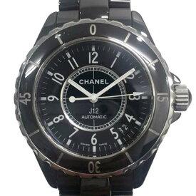 【美品】シャネル CHANEL H0685 J12 腕時計 自動巻き セラミック 黒 ブラック メンズ レディース ユニセックス【中古】