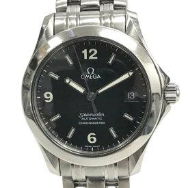 【美品】 オメガ 168.1601 シーマスター クロノメーター 腕時計 自動巻き 黒文字盤 ブラック メンズ 【中古】