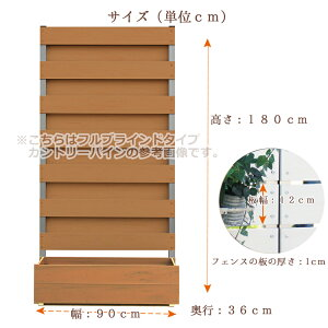 プランター付きフェンスサイズ