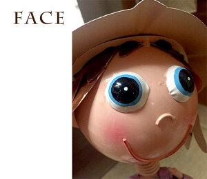 ブリキの人形ブリキ製_顔