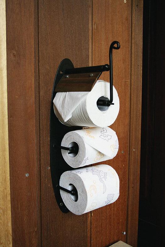 アイアントイレットペーパーホルダー トイレ雑貨 トイレペーパーホルダー