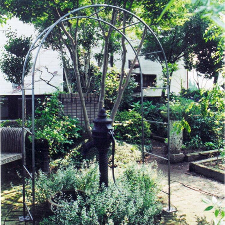 ガーデンアーチ (ローズアーチ /バラアーチ/フラワーアーチ/パーゴラ) 庭 ガーデン アイアン製 ガーデンアーチ タイプH 【送料無料】