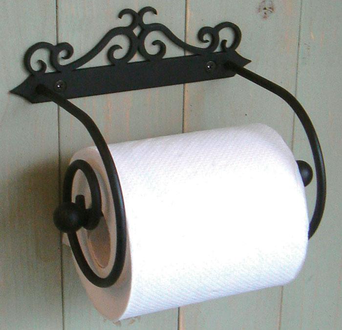 トイレ トイレットペーパー ペーパーホルダー トイレットペーパーホルダー アイアン製トイレットペーパーホルダー 2 【送料無料】
