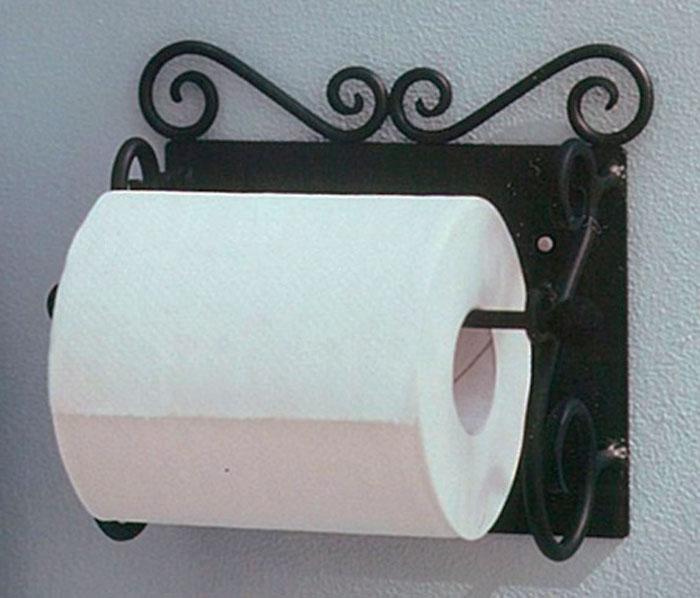 トイレ トイレットペーパー ペーパーホルダー トイレットペーパーホルダー アイアン製トイレットペーパーホルダー 【送料無料】1