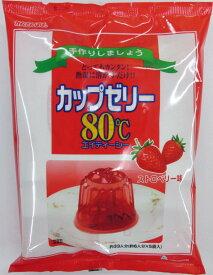 かんてんぱぱ カップゼリー80℃ストロベリー味(約6人分X5袋入)