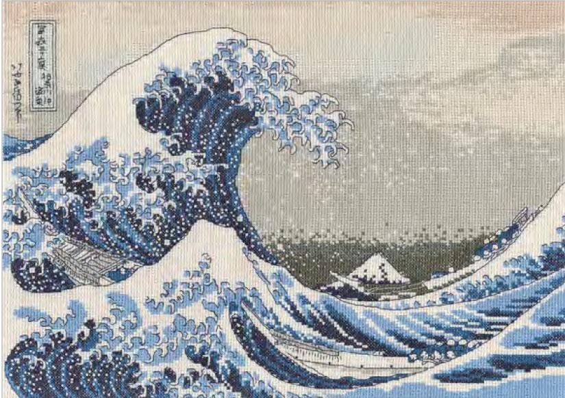 DMC 刺しゅうキット 葛飾北斎「神奈川沖浪裏」BL1145/73 The Great Wave 【KY】 クロスステッチ THE BRITISH MUSEUM