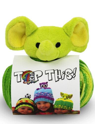 DMC TOP THIS! elephant 動物(ぞうEL)のぬいぐるみ付き 帽子用毛糸 【KN】