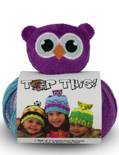 DMC TOP THIS! owl 動物(フクロウOW)のぬいぐるみ付き 帽子用毛糸 【KN】