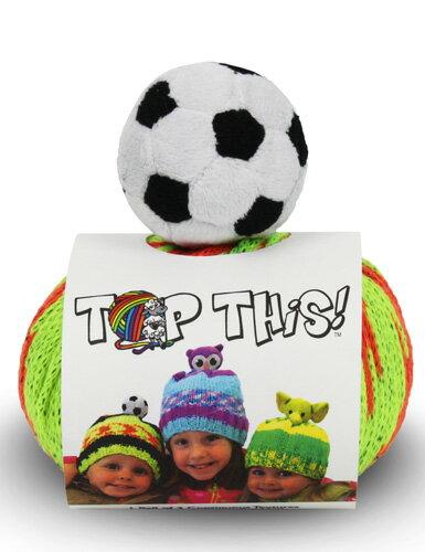 DMC TOP THIS! soccer ball サッカーボールSBのぬいぐるみ付き 帽子用毛糸 【KN】