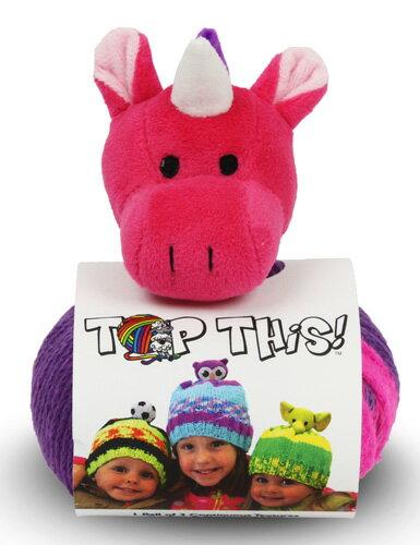 DMC TOP THIS! unicorn 動物(ユニコーンUN)のぬいぐるみ付き 帽子用毛糸 【KN】