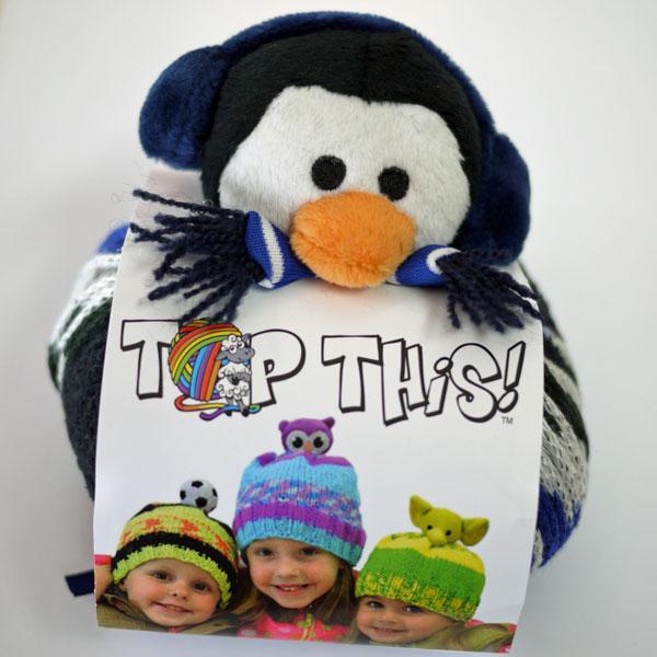 DMC TOP THIS! PENGUIN ペンギン(PE)のぬいぐるみ付き 帽子用毛糸 【KN】