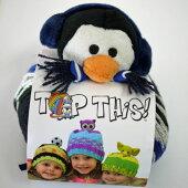 DMCTOPTHIS!PENGUINペンギン(PE)のぬいぐるみ付き帽子用毛糸【KN】