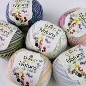DMCNaturaナチュラマルチ【KY】段染手編み用コットン糸サマーヤーン毛糸編み物
