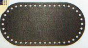 バッグ底板 だ円 19.8cm×10cm 黒 H204-627 ハマナカ 【KY】