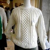 毛糸蔵オリジナルパックアラン模様のセーターキットきなり9W-0301ダルマ【KN】手編みキットチェビオットウール