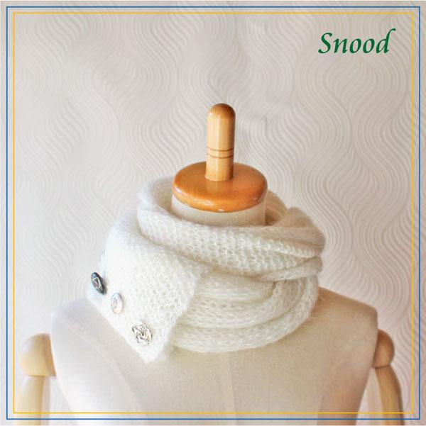 毛糸蔵かんざわオリジナルキット15 ヴィンテージボタン付きスヌード 星野真美 デザイン 【KN】