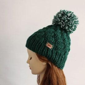 毛糸蔵かんざわオリジナルキット62 ビッグポンポンの帽子 【KN】 星野真美デザイン glitt 編み物キット