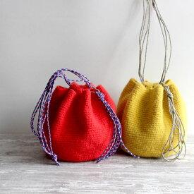 毛糸蔵かんざわオリジナルキット67 アウトドアコードの巾着バッグ 【KN】 星野真美デザイン glitt 編み物キット