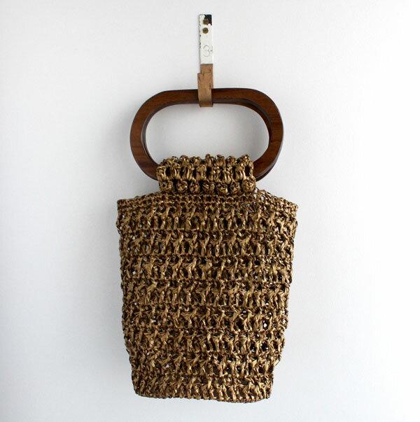キット オーバル手口のバッグ 3418 アンティーク メルヘンアート 【KY】 星野真美 デザイン Marchenart 樹皮もどき 手編みバッグ 編み物キット