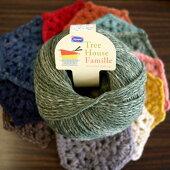 新製品毛糸ツリーハウスファミーユオリムパス【KY】Olympus毛糸編み物手編み糸並太