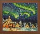 クロスステッチで描く美しい風景 No.7440 イエローナイフのオーロラ(カナダ) オリムパス 刺しゅうキット