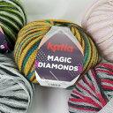 特注糸 マジックダイヤモンド MAGIC DIAMONDS パピー プーリング編み【KN】 100g KATIA 毛糸 編み物 極太 段染