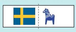 北欧スタイル織りタグ スウェーデン HT-1 サンオリーブ 【KY】 タグ ワッペン