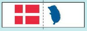 北欧スタイル織りタグ デンマーク HT-5 サンオリーブ 【KY】 タグ ワッペン