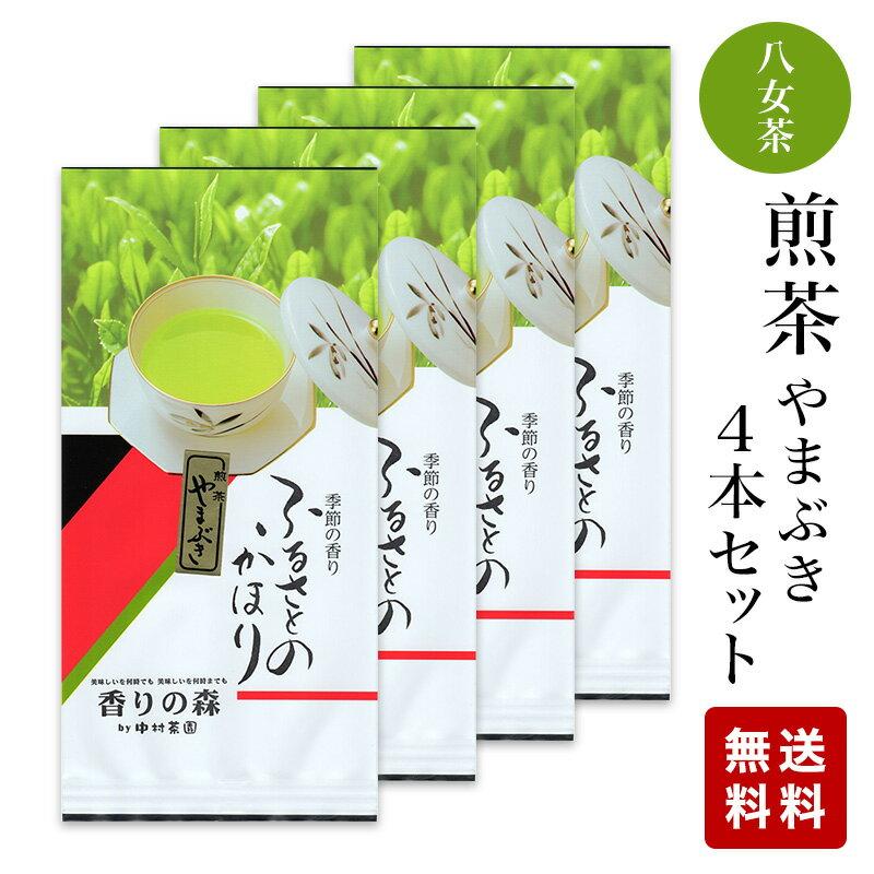 八女茶 煎茶(やまぶき)100g×4本セット 1000円 【メール便 送料無料】