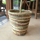 お部屋の観葉植物がスタイリッシュなインテリアグリーンに早変わり♪バスケット鉢カバー(迷彩)6号鉢サイズ【楽ギフ_…