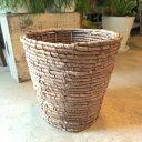 お部屋の観葉植物がスタイリッシュなインテリアグリーンに早変わり♪バスケット鉢カバー(ブラウン)6号鉢サイズ【楽…