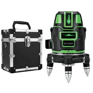KAPEO 5ライン グリーンレーザー墨出し器 SJ-G225 5線6点 回転レーザー線4方向大矩照射 自動補正機能 高輝度 高精度 レーザー墨出し器/墨出し/墨だし器/墨出し機/墨出機/墨だし機/レーザーレベル