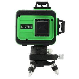 KAPEO 3D LASER 12ライン フルライングリーンレーザー墨出し器 SJ-G7359 360°垂直*2・360°水平*1 自動補正機能 高輝度 高精度 グリーンレーザー墨出し器 /墨出し/墨だし器/墨出し機/墨出機/墨だし機/レーザーレベル/レーザー水平器/レーザー測定器メーカー1年保証