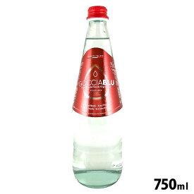 イタリア産ミネラルウォーター GOCCIA BLU(ゴッチャブルー)FRIZZANTE 750ml 赤ラベル トーニ社 / 中硬水 オリゴミネラルウォーター 炭酸水 瓶 スパークリング