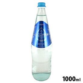 イタリア産ミネラルウォーター GOCCIA BLU(ゴッチャブルー)NATURALE 1000ml 1L 青ラベル トーニ社 / 中硬水 オリゴミネラルウォーター 瓶