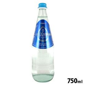 イタリア産ミネラルウォーター GOCCIA BLU(ゴッチャブルー)NATURALE 750ml 青ラベル トーニ社 / 中硬水 オリゴミネラルウォーター 瓶