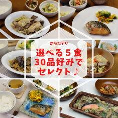 からだデリ味の富士山自由に選べる5食セット冷凍弁当健康弁当宅配おかず惣菜弁当おべんとう