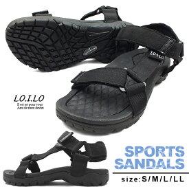 LO.I.LO-ロイロ- 機能性とデザイン性を兼ね備えた夏の定番!ベルクロデザインのスポーツサンダル。スポサン フラット ビーサン ビーチサンダル レディースシューズ 婦人靴 靴